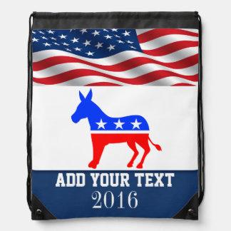 Patriotic / Elections American Flag Back Pack Drawstring Bags