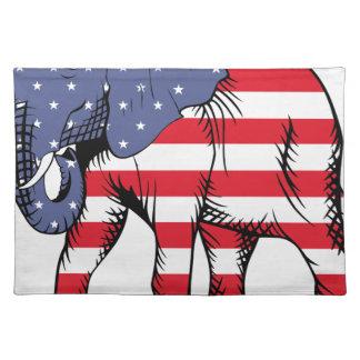 Patriotic Elephant Placemat