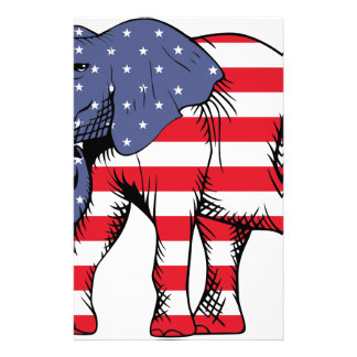 Patriotic Elephant Stationery