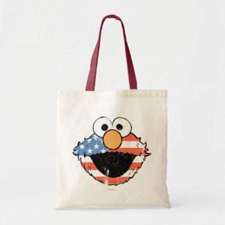 Patriotic Elmo - Distressed Tote Bag