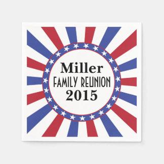 Patriotic Family Reunion Disposable Napkins