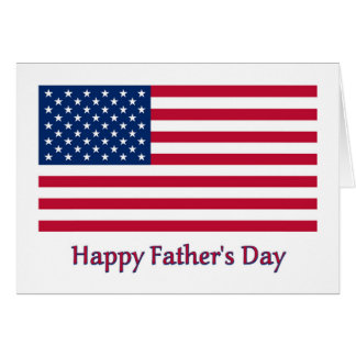 Patriotic Fathers Day Card