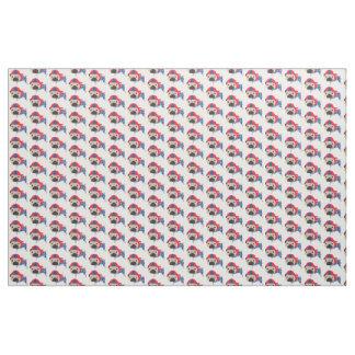 Patriotic Fawn Pug Fabric