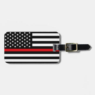 Patriotic Firefighter Style American Flag Bag Tags