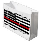 Patriotic Firefighter Style American Flag Large Gift Bag
