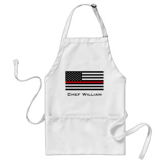 Patriotic Firefighter Style American Flag Standard Apron