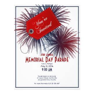 Patriotic Fireworks for Memorial Day Personalized Flyer