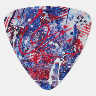 Patriotic Fireworks Guitar Pick