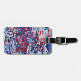 Patriotic Fireworks Luggage Tag