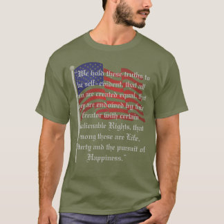 Patriotic Flag and The Declaration of Independence T-Shirt