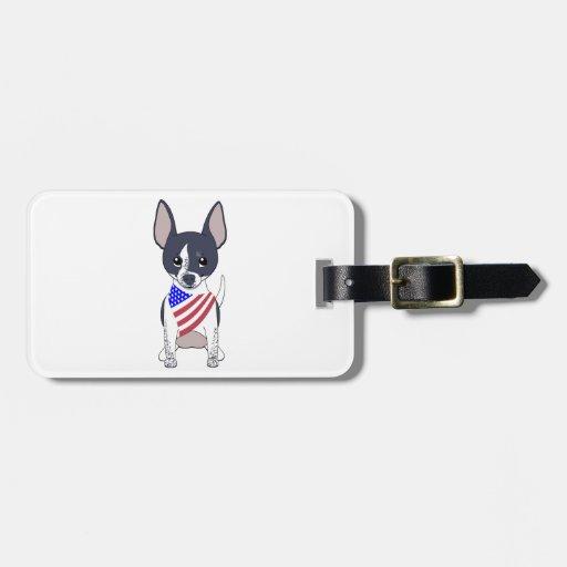 Patriotic Flag Bandana Chihuahua 5 Bag Tags