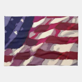 Patriotic Flag Dishtowl Kitchen Towel