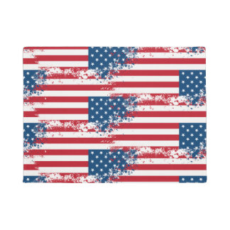 Patriotic Flag Door Mat