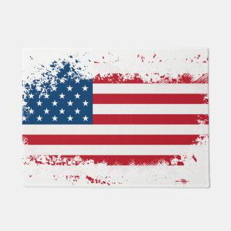Patriotic Flag Door Mat