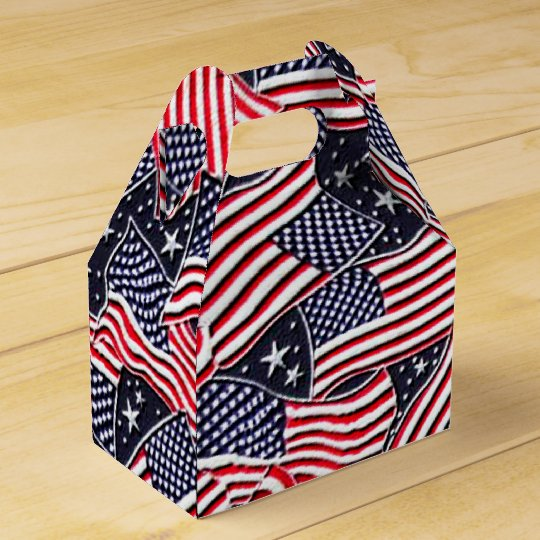 Patriotic Flag Holiday gable favour box Wedding Favor Boxes