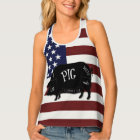 Patriotic Flag I Like Pig Butts and I Cannot Lie Tank Top