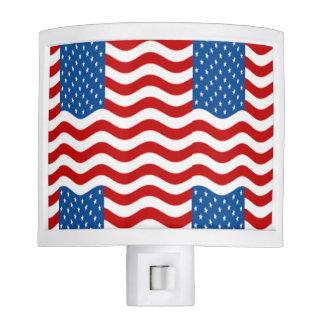 Patriotic Flag Night Light