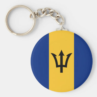 Patriotic Flag of Barbados Keychain