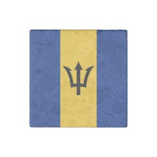 Patriotic Flag of Barbados Stone Magnets