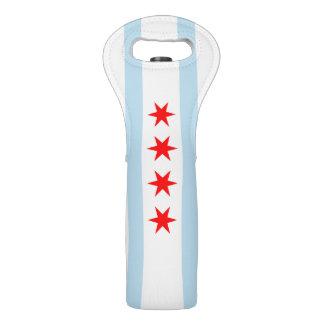 Patriotic Flag of Chicago Illinois Wine Bag