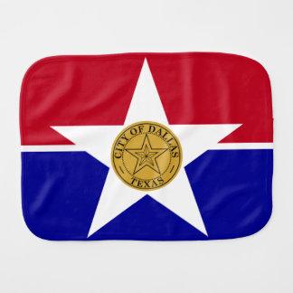 Patriotic Flag of Dallas Texas Baby Burp Cloth