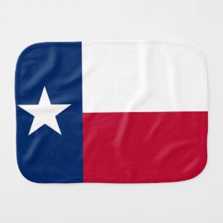 Patriotic Flag of Texas Burp Cloths