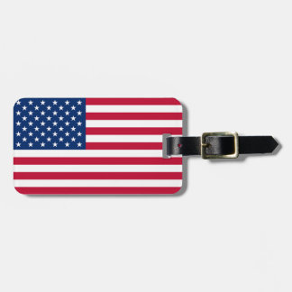 Patriotic Flag of the United States Easy ID Luggage Tags