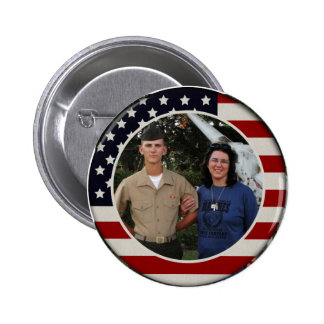 Patriotic Flag Photo Button