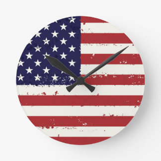 Patriotic Flag USA  - USA Flag Clock