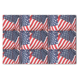 Patriotic Flags Tissue Paper
