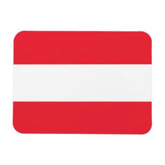 Patriotic flexible magnet with flag of Austria