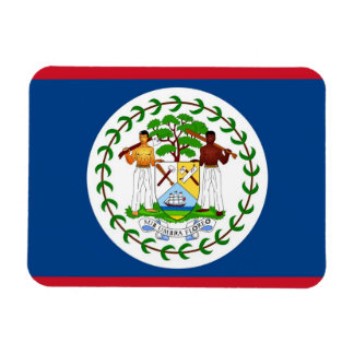 Patriotic flexible magnet with flag of Belize