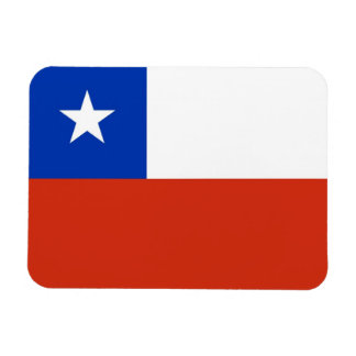 Patriotic flexible magnet with flag of Chile