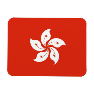 Patriotic flexible magnet with flag of Hong Kong