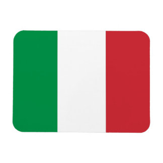 Patriotic flexible magnet with flag of Italy