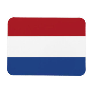 Patriotic flexible magnet with flag of Netherlands