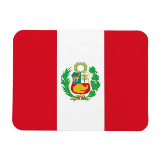 Patriotic flexible magnet with flag of Peru
