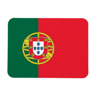 Patriotic flexible magnet with flag of Portugal