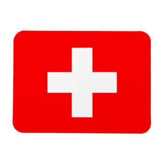 Patriotic flexible magnet with flag of Switzerland
