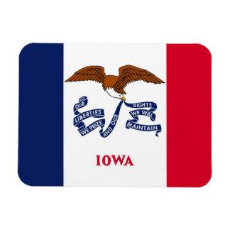 Patriotic flexible magnet with Iowa flag