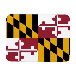 Patriotic flexible magnet with Maryland flag