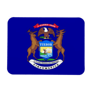 Patriotic flexible magnet with Michigan flag