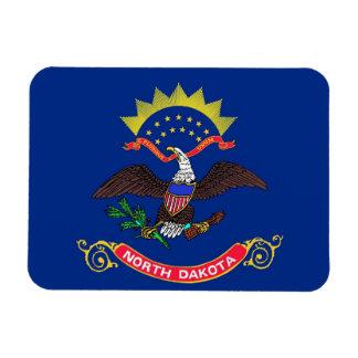 Patriotic flexible magnet with North Dakota flag