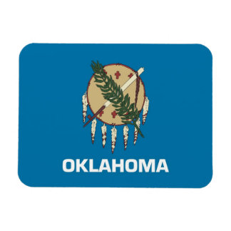 Patriotic flexible magnet with Oklahoma flag