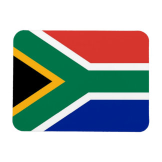 Patriotic flexible magnet with South Africa flag