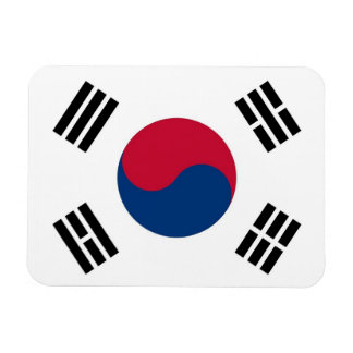 Patriotic flexible magnet with South Korea flag