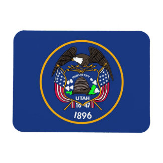 Patriotic flexible magnet with Utah State flag