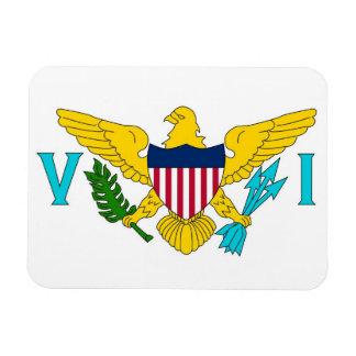 Patriotic flexible magnet with Virgin Islands flag