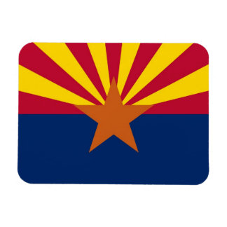 Patriotic flexible photo magnet with Arizona flag