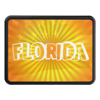 Patriotic Florida the Sunshine state Flag and Sun Trailer Hitch Cover